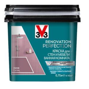 RENOVATION PERFECTION: Краска для стен и мебели в ванной комнате V33