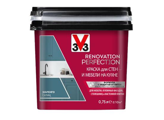 RENOVATION PERFECTION: Краска для стен и мебели на кухне V33